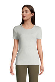 Women's All Cotton Short Sleeve Crewneck T-shirt