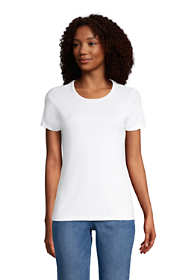 Women's Tall All Cotton Short Sleeve Crewneck T-shirt