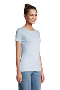 Women's Tall All Cotton Short Sleeve Crewneck T-shirt, alternative image