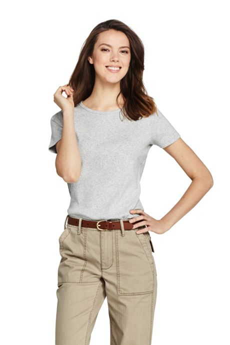Women's Tall Shaped Cotton Crewneck T-shirt