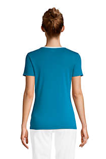 Women's Petite All Cotton Short Sleeve Crewneck T-shirt, Back