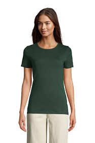 Women's Petite All Cotton Short Sleeve Crewneck T-shirt