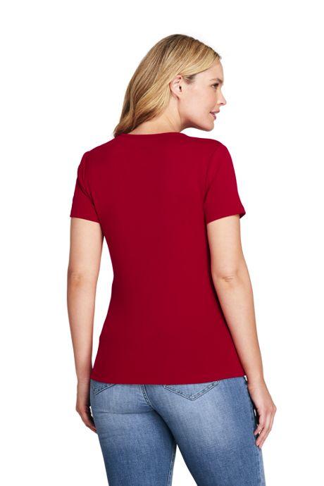 Women's Plus Size Shaped Cotton Crewneck T-shirt
