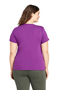 Women's Plus Size All Cotton Short Sleeve Crewneck T-Shirt, Back