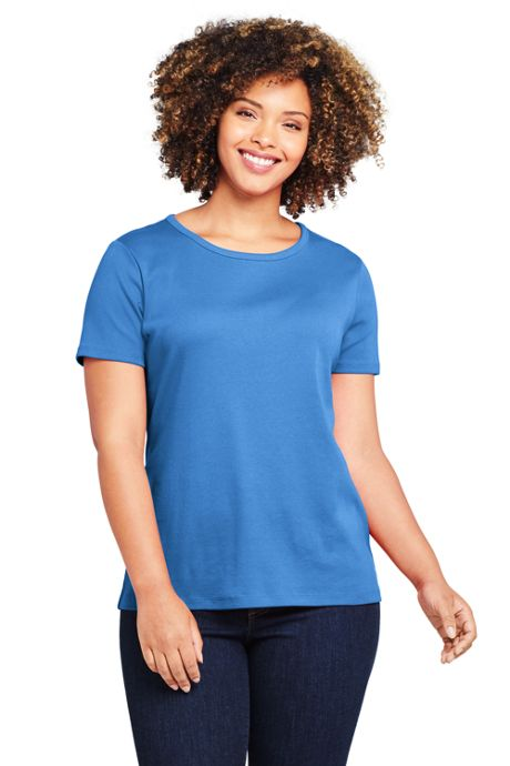 Women's Plus Size All Cotton Short Sleeve Crewneck T-Shirt