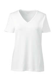 Women's Tall Shaped Cotton V-neck T-shirt