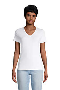 Women's All Cotton Short Sleeve V-Neck T-Shirt, Front