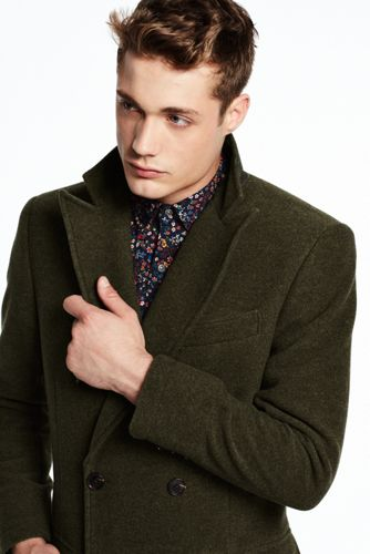 Men's Double-breasted Wool Coat