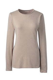 Women's Long Sleeve Cotton/Modal Crew Neck Tee