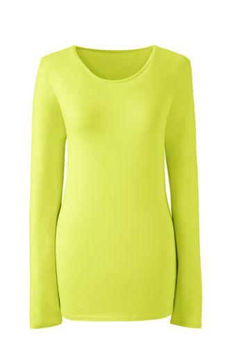 Women's Long Sleeve Cotton/Modal Crew Neck T-shirt