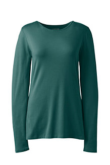 Women's Long Sleeve Cotton/Modal Crew Neck T-shirt