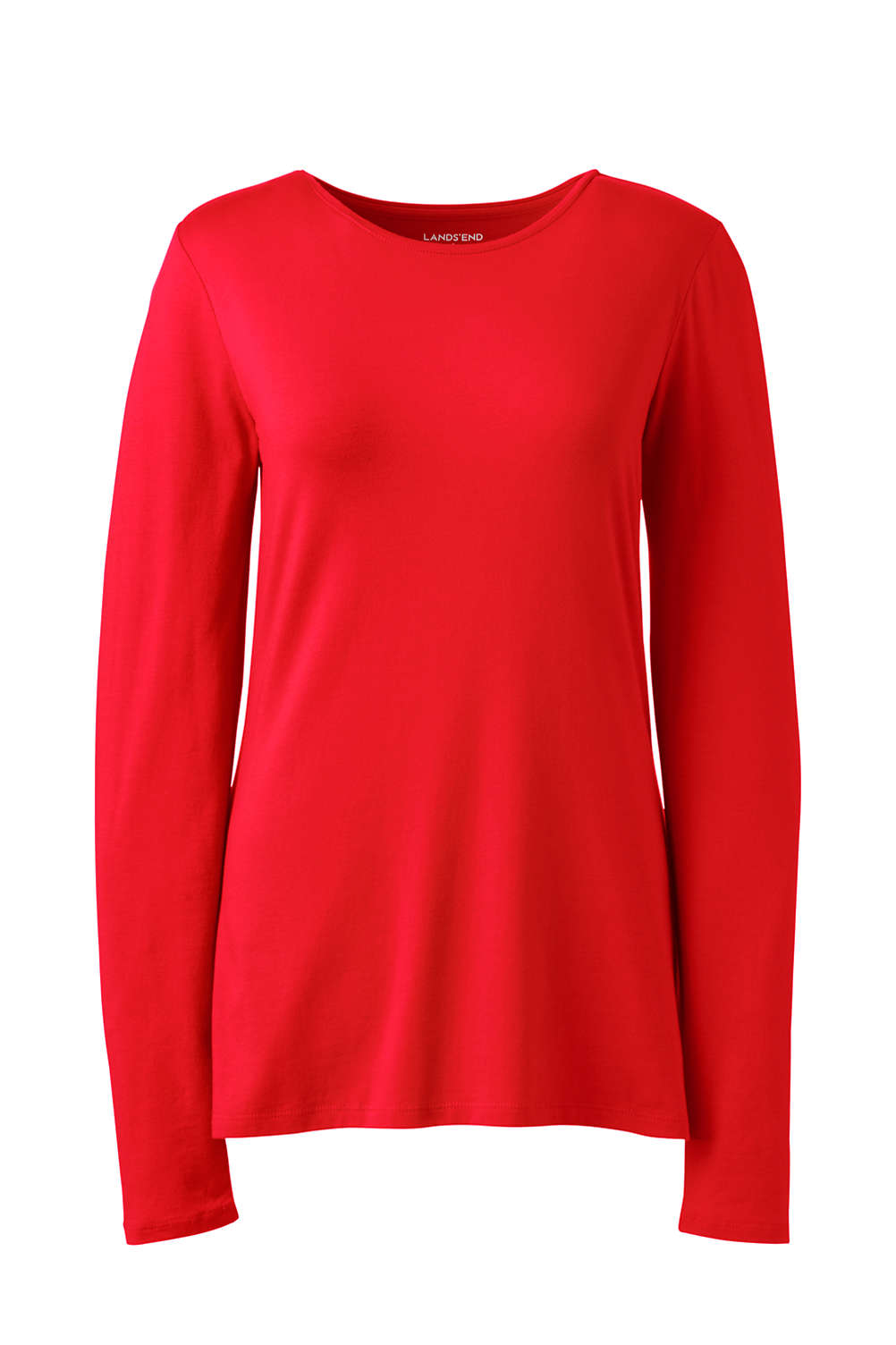 Women s Plus Size Lightweight Fitted Long Sleeve T-Shirt - Shaped Layering  Crewneck. Item  4756196Q5. View Fullscreen d49448e705