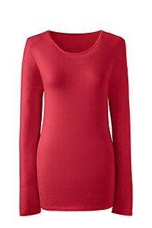 Rundhals-Shirt aus Baumwoll/Modalmix