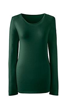 Women's Long Sleeve Cotton/Modal Crew Neck Tee