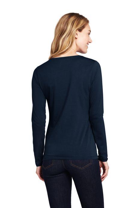 Women's Tall Shaped Layering Long Sleeve T-shirt Crewneck