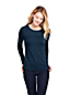 Women's Long Sleeve Cotton-modal Crew Neck T-shirt