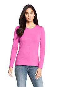 Women's Tall Lightweight Fitted Long Sleeve Crewneck T-Shirt