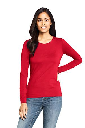 Le T Shirt Stretch En Coton Et Modal à Manches Longues Fe