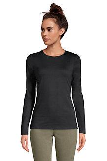 Women's Long Sleeve Cotton-modal Crew Neck T-shirt