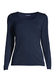 Women's Lightweight Fitted Long Sleeve Scoopneck T-Shirt