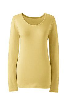 Women's Long Sleeve Cotton/Modal Scoop Neck T-shirt