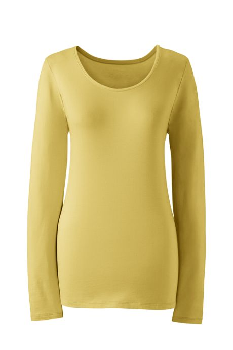 Women's Plus Size Shaped Layering Scoopneck T-shirt