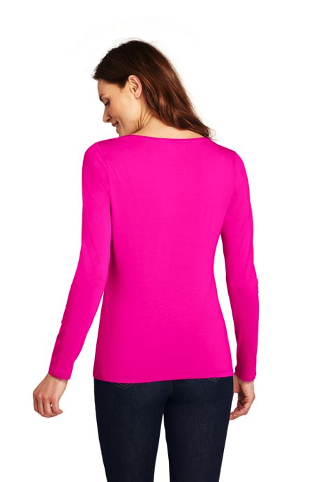 Women's Petite Shaped Layering Scoopneck T-shirt