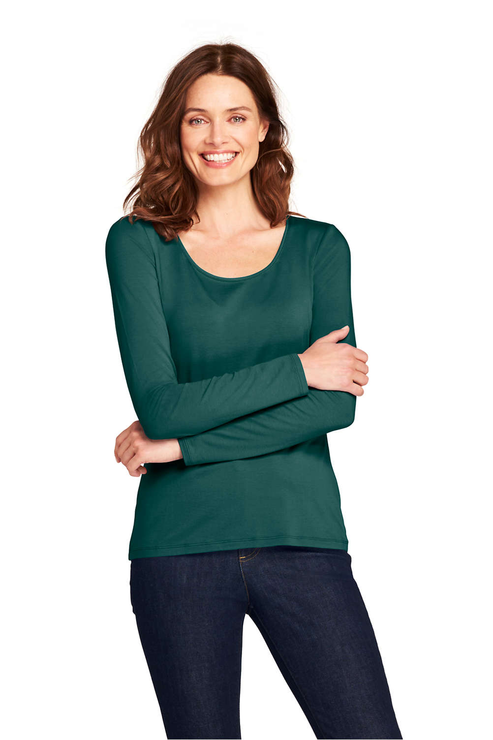 497e9b7b9627 Women's Shaped Layering Scoopneck T-shirt from Lands' End