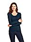 Le T-Shirt Stretch en Coton et Modal à Manches Longues, Femme Stature Standard