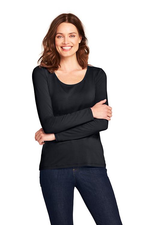 Shirt aus Baumwoll/Modalmix, Ballettausschnitt Preisvergleich
