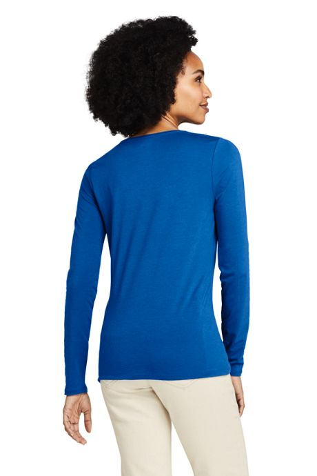 Women's Tall Lightweight Fitted Long Sleeve Scoopneck T-Shirt