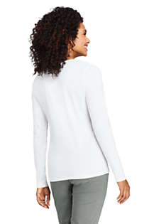 Women's Lightweight Fitted Long Sleeve Scoop Neck T-Shirt, Back