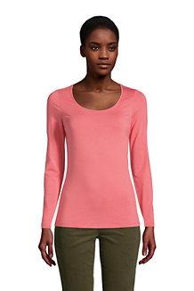 Shirt aus Baumwoll/Modalmix, Ballettausschnitt