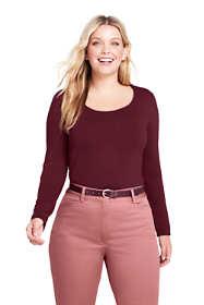Women's Plus Size Shaped Layering Scoopneck T-shirt