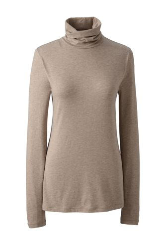 Women's Regular Cotton/Modal Roll Neck