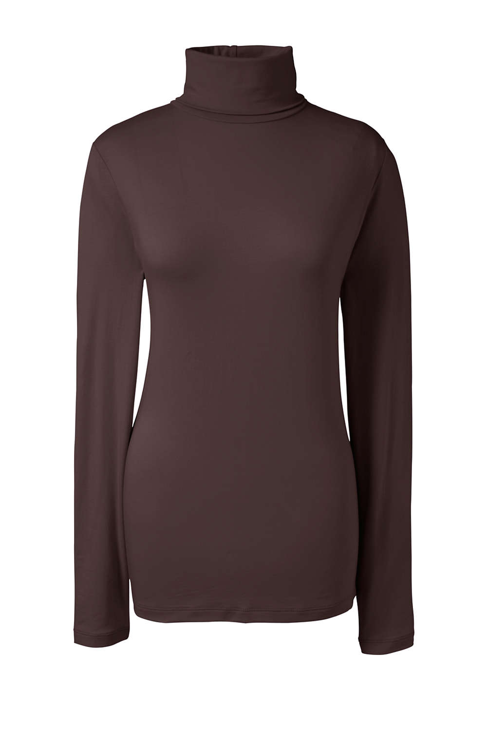 75084043de7f09 Women s Plus Size Lightweight Fitted Turtleneck Layering from Lands  End
