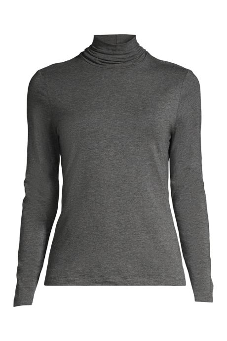 Women's Plus Size Lightweight Fitted Turtleneck Layering
