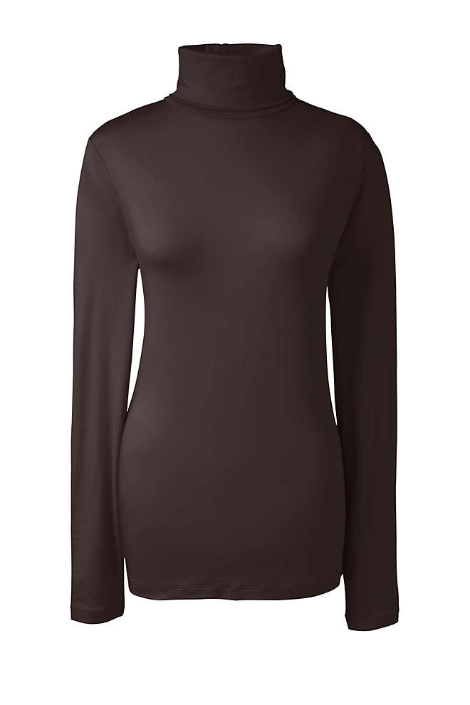 Women's Tall Lightweight Fitted Long Sleeve Turtleneck, Front
