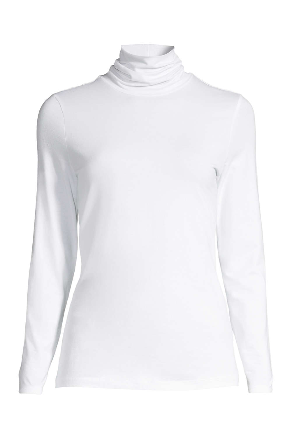 6276380d7e4d83 School Uniform Women s Shaped Layering Turtleneck from Lands  End