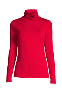 Women's Lightweight Fitted Long Sleeve Turtleneck, Front