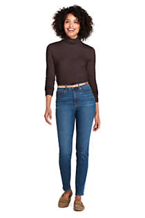 Women's Petite Lightweight Fitted Long Sleeve Turtleneck, alternative image