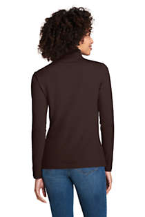 Women's Petite Lightweight Fitted Long Sleeve Turtleneck, Back