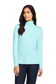 Women's Petite Lightweight Fitted Long Sleeve Turtleneck