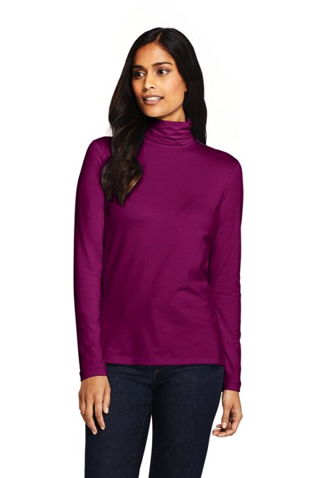 Women's Tall Lightweight Fitted Long Sleeve Turtleneck