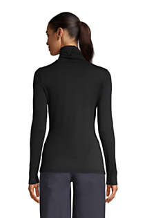 Women's Tall Lightweight Fitted Long Sleeve Turtleneck, Back