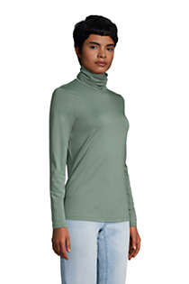 Women's Lightweight Fitted Long Sleeve Turtleneck, alternative image