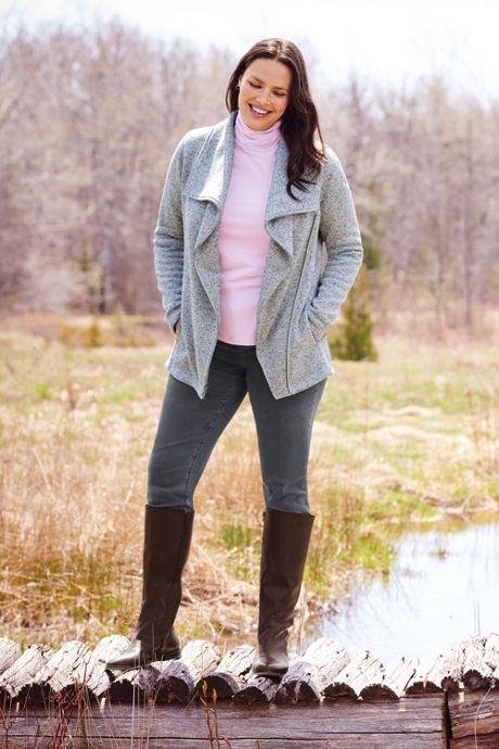 Women's Plus Size Shaped Layering Turtleneck