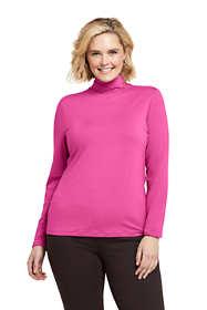 Women's Plus Size Lightweight Fitted Long Sleeve Turtleneck