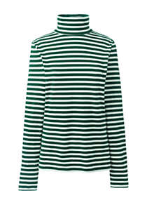 Women's Lightweight Fitted Long Sleeve Turtleneck Stripe, Front