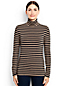 Women's Regular Cotton/Modal Stripe Roll Neck